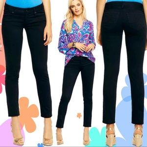 Lilly Pulitzer Worth Skinny Jeans Black Onyx